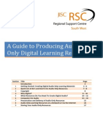 A Guide to Producing Audio Only Learning Resources Final