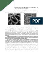 Lactobacillus Bulgaricus Methods Quantitative Determination