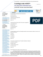 2011 June UGC NET Previous Years Solved Paper I - Free Online UGC NET _ SET _ SLET Guide in Library and Information Science