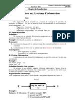 Introduction aux Systèmes d'informations