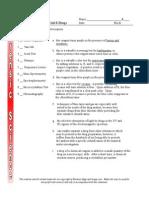 Test Review Unit 8 Drugs Paraphernalia