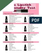 Lipstick Personality Test