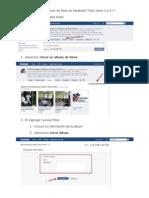 Como puedo crear un álbum de fotos en Facebook