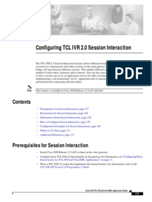 Configuring TCL IVR 2 0 Session Interaction | Interactive Voice