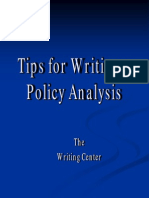 Writing a Policy Analysis