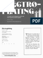 Electroplating - By Henty C Reetz (H H Windsor 1911 - Republished by Lindsay Publications 1989) 99P - Revised and Up-To-Date by Popular Mechanics