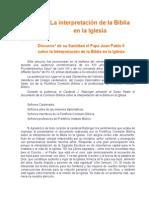 Juan Pablo II - Interpretacion de La Biblia