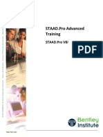 Staad Pro Advanced Training
