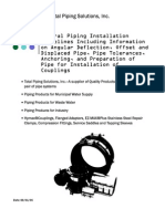 Installation Guidelines for Piping