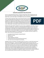 Schwartz Scholarship Fund Application