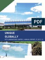 Pitti Laminations Annual Report 2011-2012