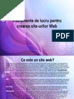 Instrumente de Lucru Pentru Crearea Site-urilor Web