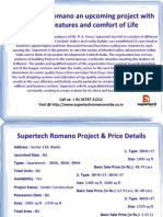 Supertech Romano Sector 118 Noida Upcoming Project - Supertech Group's - Call @ + 91 92787 21212