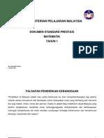 DSP Matematik Tahun 1