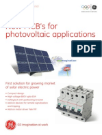 MCB´s for photovoltaic applications