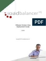 Load Balancing VMware Horizon View Loadbalancer Deployment Handbuch bzw. Guide