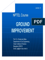 Lecture on Ground Improvement