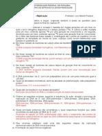 LISTA DE EXERCÍCIOS CAP 07