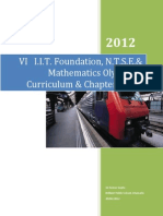 Class VI I.I.T. Foundation, N.T.S.E.& Mathematics Olympiad Curriculum & Chapter Notes