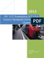 Class VII I.I.T.foundation, N.T.S.E.& Science Olympiad Curriculum & Chapter Notes