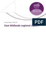 Ofsted Annual Report 2013 East Midlands