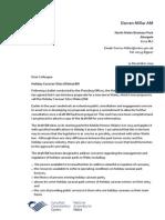 Caravan Sites Wales Bill - Consultation Letter and Draft Bill