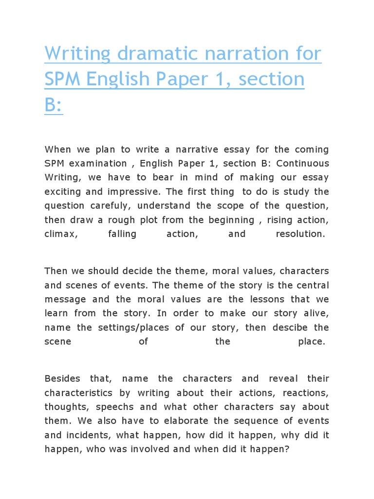 spm english essay story