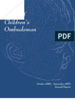Michigan Office of Children's Ombudsman Annual Report 2002