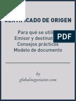 MODELO CERTIFICADO DE ORIGEN