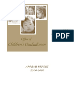 Michigan Office of Children's Ombudsman Annual Report 2001