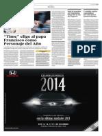 Time elige al papa Francisco como personaje del año