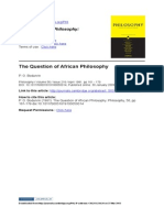 Bodunrin_The Question of African Philosophy
