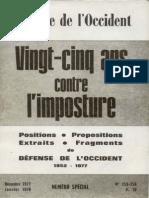 Bardèche Maurice - Petite histoire de Defense de l'Occident