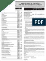 CELS Audited Results for FY Ended 31 Aug 13