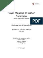 Heritage Building Analysis - Masjid Sultan Sulaiman