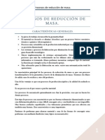 Procesos de reducción de masa