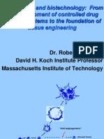 Langer - Biomaterials & Biotechnology