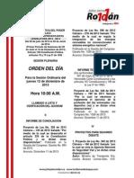 Agenda Legislativa Diciembre 12 de 2013