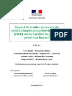 Rapport de synthèse fiscalité 2013