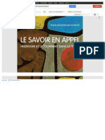 Http Books Google Fr Books Id=MsJ9qJDGizMC&Pg=PP1&Lpg=PP1&Dq=Le+Savoir+en+Appel+Franz-Emmanuel+Schurch&Source=Bl&Ots=xZGGq0Qz6M&Sig=1vW30fOEtRRdHob 4WhVZEyy3oU&Hl=Fr&Sa=X&Ei=nZioUoGaKIa50QXtsYG4AQ&Ved=0CFAQ6AEwBA#v=Onep