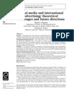 Social media and international advertising