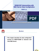 10WG001207 Interworking With MSC Server Data Configuration ISSUE 1.0