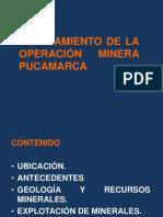 PLANEAMIENTO DE LA OPERACIÓN MINERA PUCAMARCA - TACNA 2012