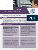ISO 27034 Lead Implementer - Four Page Brochure