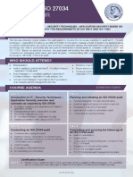 ISO 27034 Lead Auditor - Two Page Brochure