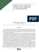 BERICAT Max Weber Enigma Emocional Del Capitalismo