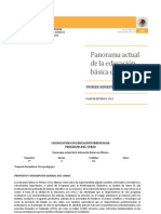 panorama actual de la educacion en mexico