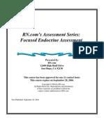 Focused Endocrine Assessment2004