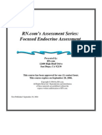 Focused Endocrine Assessment2004