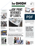 The Onion's Final Print Issue